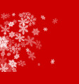 winter snowflakes border cool red white background vector image