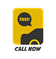 yellow and black taxi logo vector image vector image
