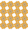 Yellow cookies on the white backdrop pattern vector image