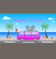 summer travel vector image