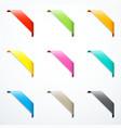 set of corner ribbons vector image
