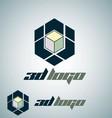 3d logo 2 vector image vector image