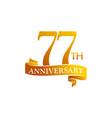 77 year ribbon anniversary vector image vector image