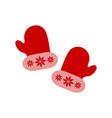 a christmas gloves with ornament of icons vector image vector image