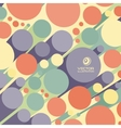 Abstract 3d background with colorful cylinders vector image vector image