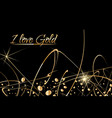 abstract background with gold paint drops vector image vector image