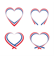 Abstract hearts with the colors of the French flag vector image