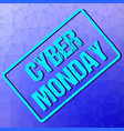 banner with cyber monday sign in frame on vector image vector image