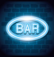 bar neon label icon vector image vector image