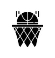 basketball black glyph icon vector image