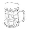 Beer mug1 resize vector image vector image