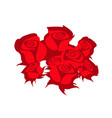 bouquet red roses vector image
