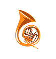 brass french horn classical music wind instrument vector image