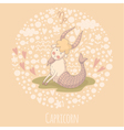 Cartoon of the goat Capricorn vector image vector image