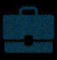 case mosaic icon of halftone bubbles vector image vector image