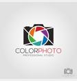 color photo - photography camera logo vector image