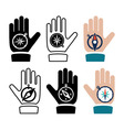 compass in hand flat icons vector image
