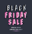dark banner for black friday sale isometric pink vector image vector image