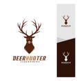 deer head logo design template luxury deer hunt vector image