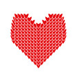 design of valentine day symbol red heart vector image
