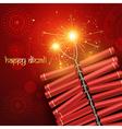 diwali crackers vector image