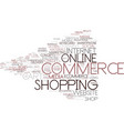 e-commerce word cloud concept vector image vector image