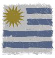Flag of Uruguay handmade square shape vector image vector image