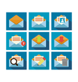 Flat Icon Design Mail vector image vector image