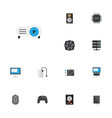 flat icons computer mouse cooler hard disk and vector image vector image