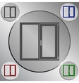 Flat paper cut style icon of modern window vector image vector image