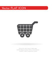 food cart icon for web business finance and vector image