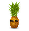 fresh ripe pineapple in sunglasses vector image vector image