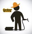 gardener design vector image vector image