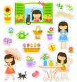 gardening collaction vector image vector image