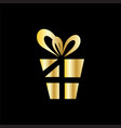 gold gift decoration symbol vector image vector image