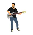 guitarist player popular music super star on stage vector image vector image