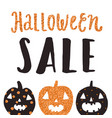 halloween sale poster vector image vector image