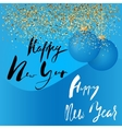 Happy New Year handeritten lettering design Gold vector image