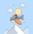 happy smiling kid flying on airplane vector image vector image