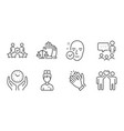 health skin security agency and court jury icons vector image vector image