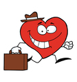 Heart Businessman vector image vector image