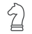 horse chess line icon development and business vector image vector image