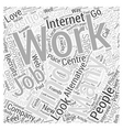 How To Find Alternative Employment Word Cloud vector image vector image