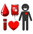 Human and blood donation vector image