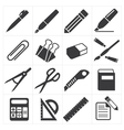 icon stationary education vector image vector image
