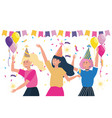 isolated women in a party design vector image vector image