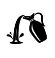jug pour out milk or water canister simple logo vector image vector image