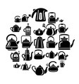 kettle teapot icons set simple style vector image vector image