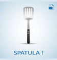 kitchen tools spatula isolated on a background vector image vector image