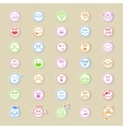 Large collection of round smiley icons vector image